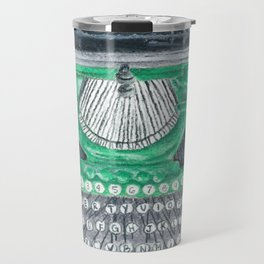 Green Typewriter Travel Mug