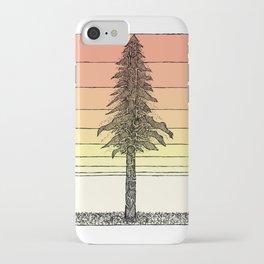 Coastal Redwood Sunset Sketch iPhone Case