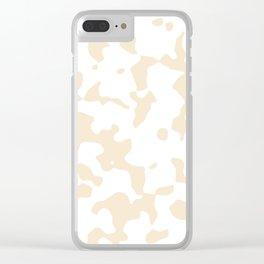 Large Spots - White and Champagne Orange Clear iPhone Case