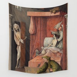Hieronymus Bosch - Death And The Miser. Wall Tapestry