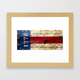 1776 Bennington Flag Framed Art Print