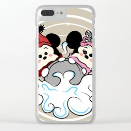 Sledding tsum  tsums Clear iPhone Case