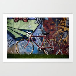 Detroit: Schwinn bike with Graffiti  Art Print