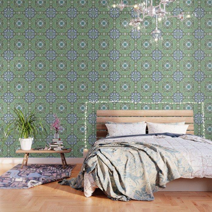 Shades of Green Mandala Wallpaper