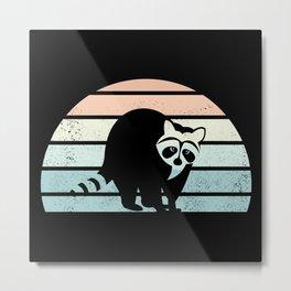 Racoon Trash panda Raccoon Sunset Gift Metal Print
