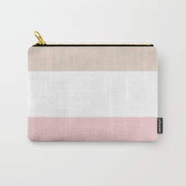 Beige, white, pink Carry-All Pouch