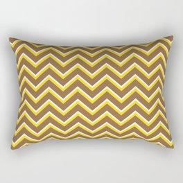 Tribal Chevron (Brown and Yellow) Rectangular Pillow