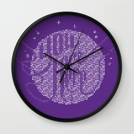 YOU ARE HERE [Funfetti Violet] Wall Clock