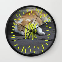 nope Wall Clocks featuring Nope. by ma93