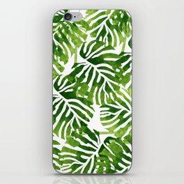 Tropical Leaves - Green iPhone Skin