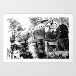 Vintage steam train Art Print