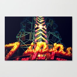 Carnival Lights, The Zipper Canvas Print