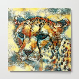 AnimalArt_Cheetah_20171005_by_JAMColorsSpecial Metal Print