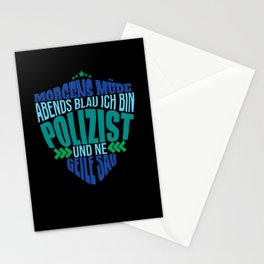 police gift policemen beer drink saying Stationery Cards