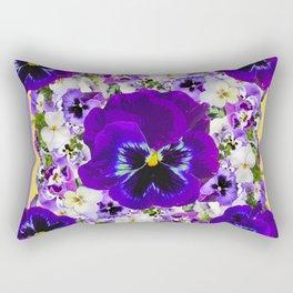 PURPLE PANSIES GARDEN LILAC ART Rectangular Pillow
