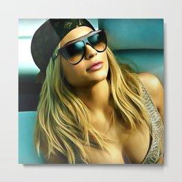 Kylie Jenner - Celebrity Art Metal Print