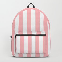 Cabana Stripes in Peachy Pink Backpack