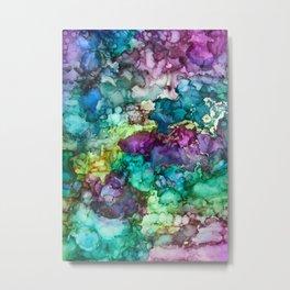 Multicolor Marble Pattern Metal Print