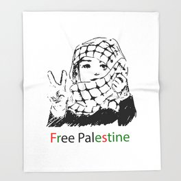 Freedom for Palestine Throw Blanket