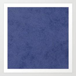 Blue suede Art Print
