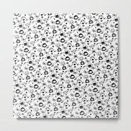 Robot Pattern Metal Print