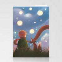 le petit prince Stationery Cards featuring Le Petit Prince by Gimena Gusteler