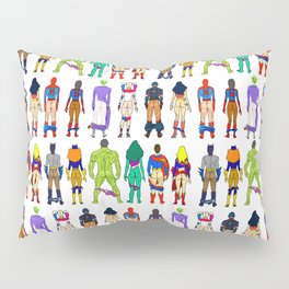 Superhero Butts - Power Couple on Violet Pillow Sham