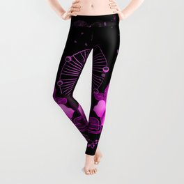 Skull with celtic knot and flowers Leggings