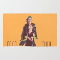 frida kahlo Area & Throw Rugs featuring Frida Kahlo by antoniopiedade