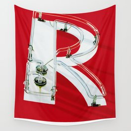 """""""R""""ed Neon Sign Wall Tapestry"""