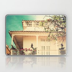 Colourful Summer Old House (Retro and Vintage Urban, architecture photography) Laptop & iPad Skin