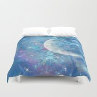 celestial Duvet Covers featuring Celestial by Geni