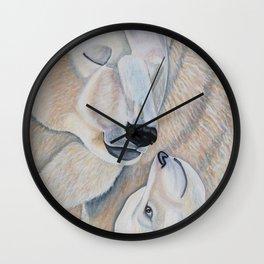 Polar Bear Love Wall Clock