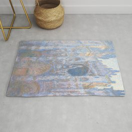 "Claude Monet ""Rouen Cathedral, West Façade"" Rug"