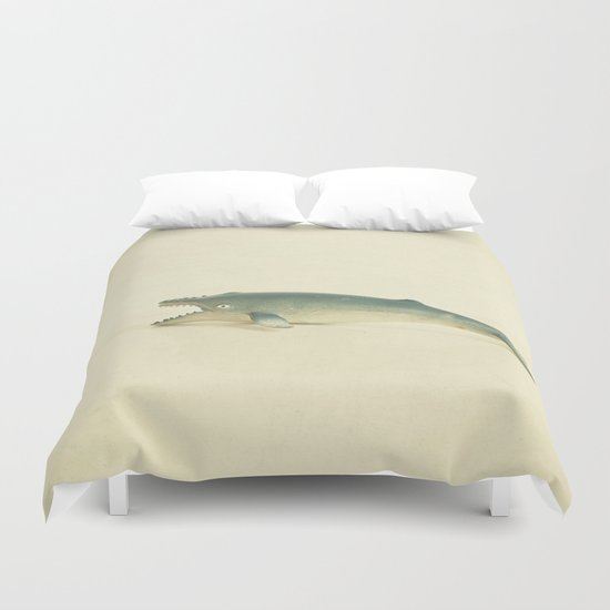 Like a Whale out of Water Duvet Cover