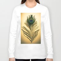 peacock feather Long Sleeve T-shirts featuring Peacock Feather by Yorkwaypictures