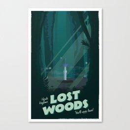 Lost Woods (Legend of Zelda) Travel Poster Canvas Print