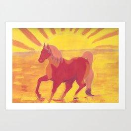 The Red Kelpie Art Print