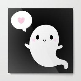 Cutie Ghost Metal Print