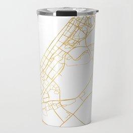 DUBAI UNITED ARAB EMIRATES CITY STREET MAP ART Travel Mug