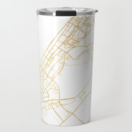 DUBAI UNITED ARAB EMIRATES CITY STREET MAP ART Travel Mug