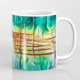 Two choices/ Jump over the Fence, Encaustic Coffee Mug