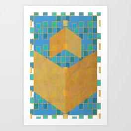 Chevrons Invert Art Print