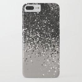 Silver Gray Glitter #1 #shiny #decor #art #society6 iPhone Case