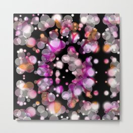 In the Night Pink Orange Metal Print