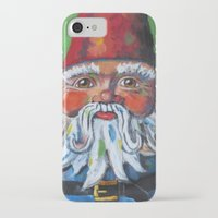 gnome iPhone & iPod Cases featuring Garden Gnome  by Juliette Caron