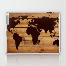 map world wood Laptop & iPad Skin