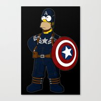 simpson Canvas Prints featuring Captain Simpson by Betmac