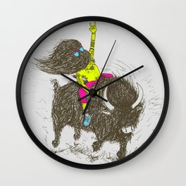 Ride a buffalo Wall Clock