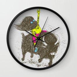 Ride a buffalo Wall Clock